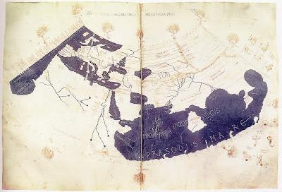 El mapamundi de Ptolomeo, año 150