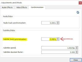 Sync subtitles & Video in VLC Media Player