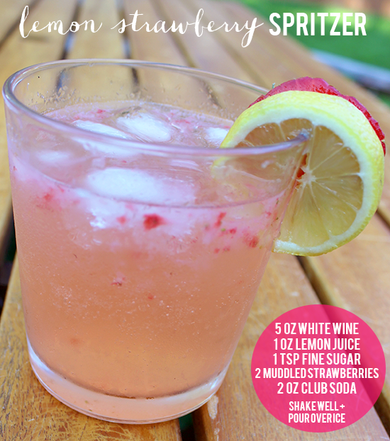 Lemon Strawberry Spritzer