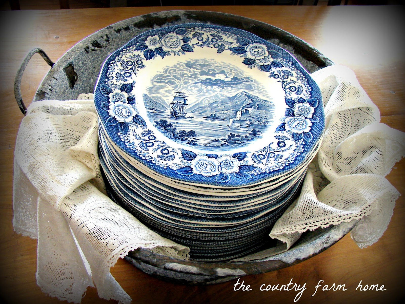 So Blue--Transferware for the Keeping Room & The Country Farm Home: So Blue--Transferware for the Keeping Room
