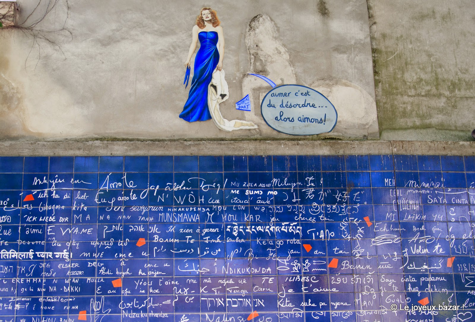 Paris - Montmartre - mur des Je t'aime