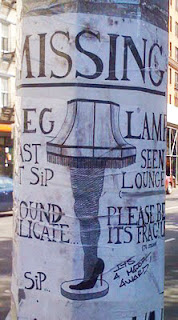 missing leg lamp sign