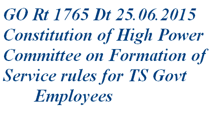 telangana employees service rules committee