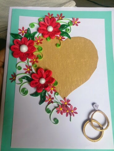 Love for quilling quilled greeting card for wedding quilled greeting card for wedding m4hsunfo