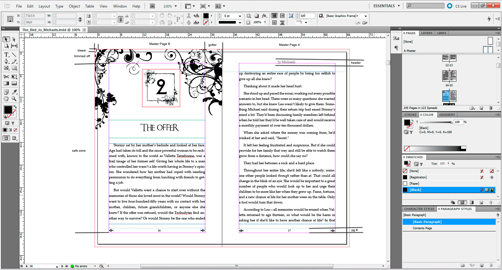 jo michaels blog templates for using ms word to format for print