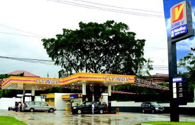 Flying-V Gasoline Station