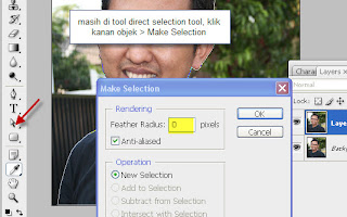 Klik kanan di gambar > Make selection