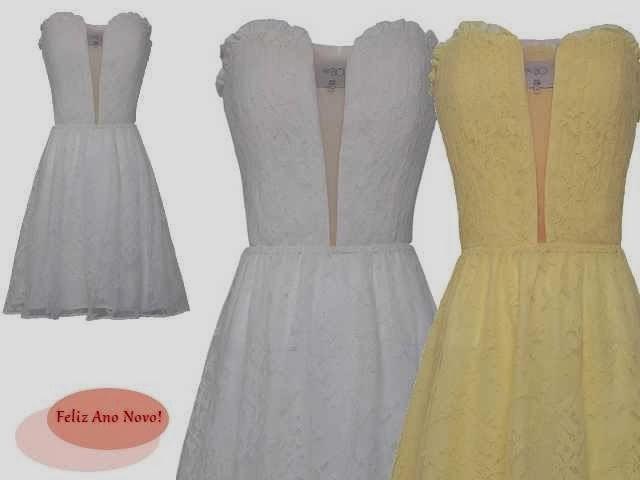 Vestido branco e vestido amarelo
