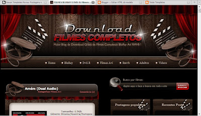 Template blog de filmes Blogger