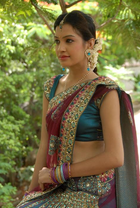 diksha panth new saree , diksha saree actress pics