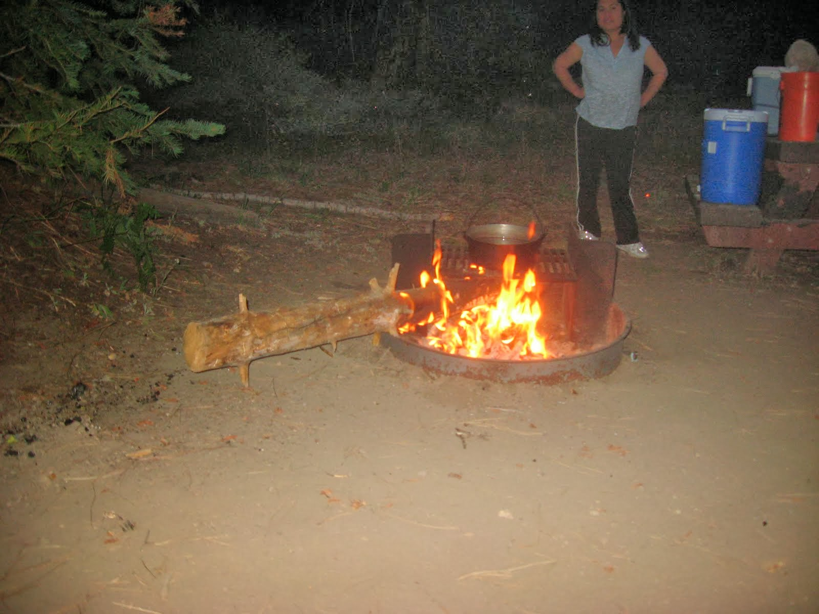 I made a fire@campsite:)