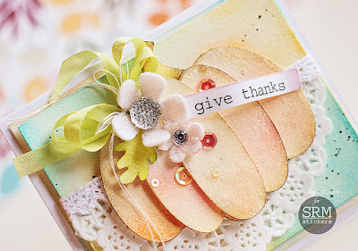SRM Stickers Blog - Give Thanks by Michele - #card #fall #autumn #stickers #sentients #doily