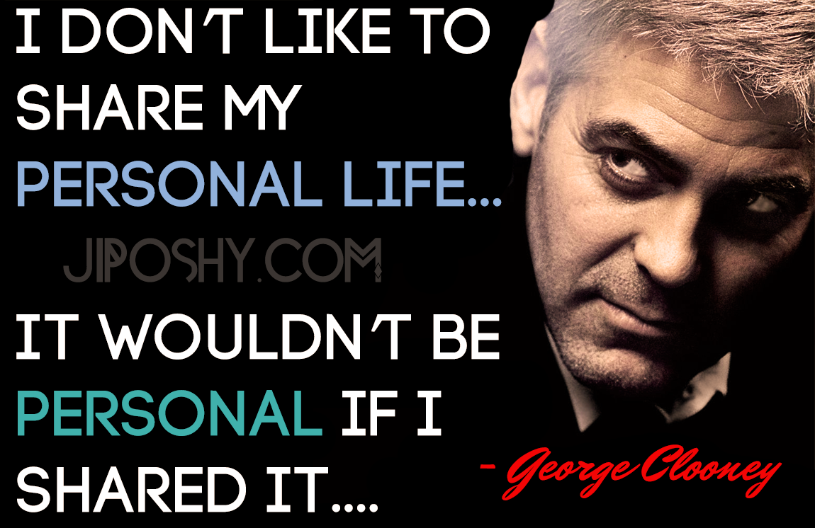 Since George Clooney i...