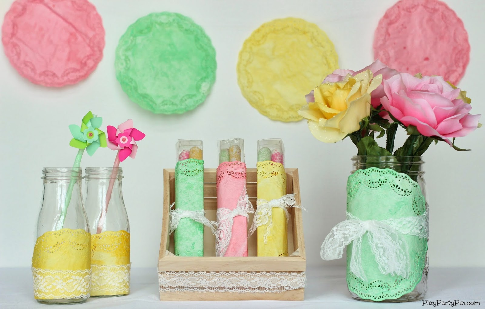18 easy diy spring projects for Baby shower decoration ideas homemade