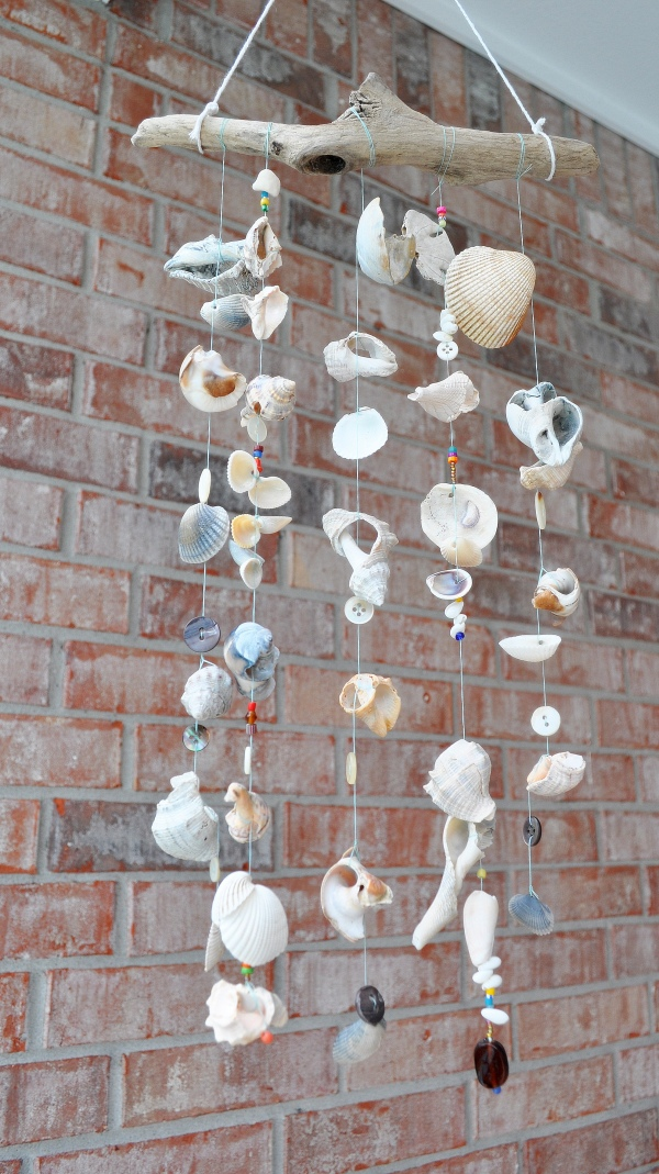 Seashell wind chime directions for Homemade chimes