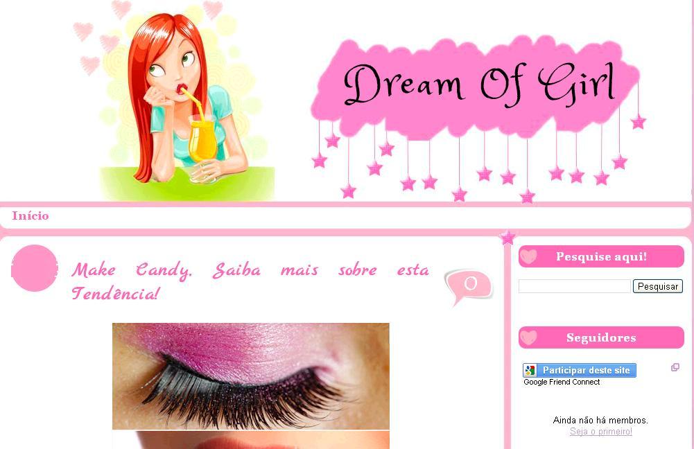 Super Template Grátis para Blog Feminino Dream of Girl - Xml Templates  TA37