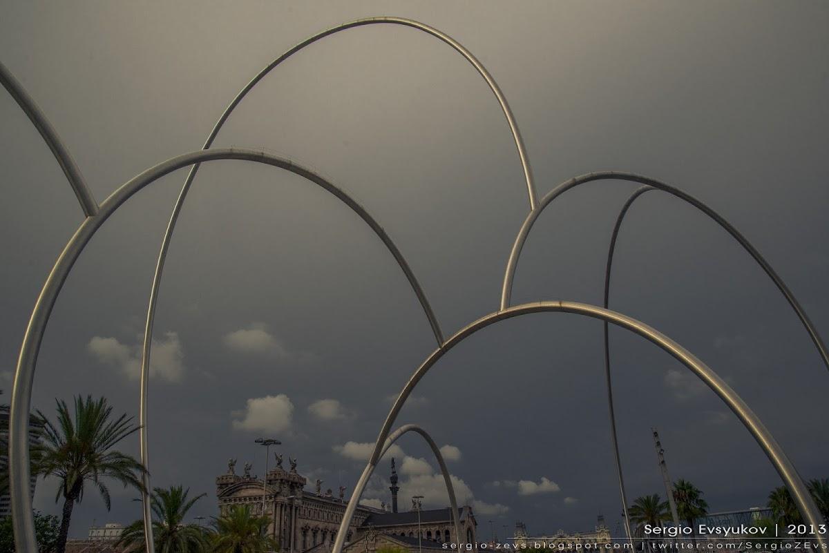 Проволочная скульптура ВОЛНЫ