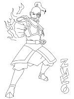 Mewarnai Gambar Pangeran Zuko Sedang Mengeluarkan Jurus Api Untuk Melawan Avatar