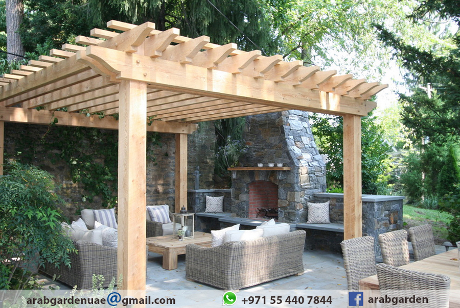 Modern Look Pergola, Stylish Pergola , Bbq Pergola , Royal White