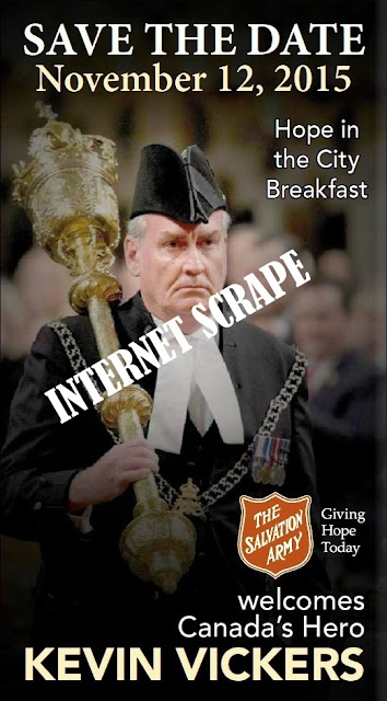 Kevin Vickers = Poster Boy for the Salvation Army