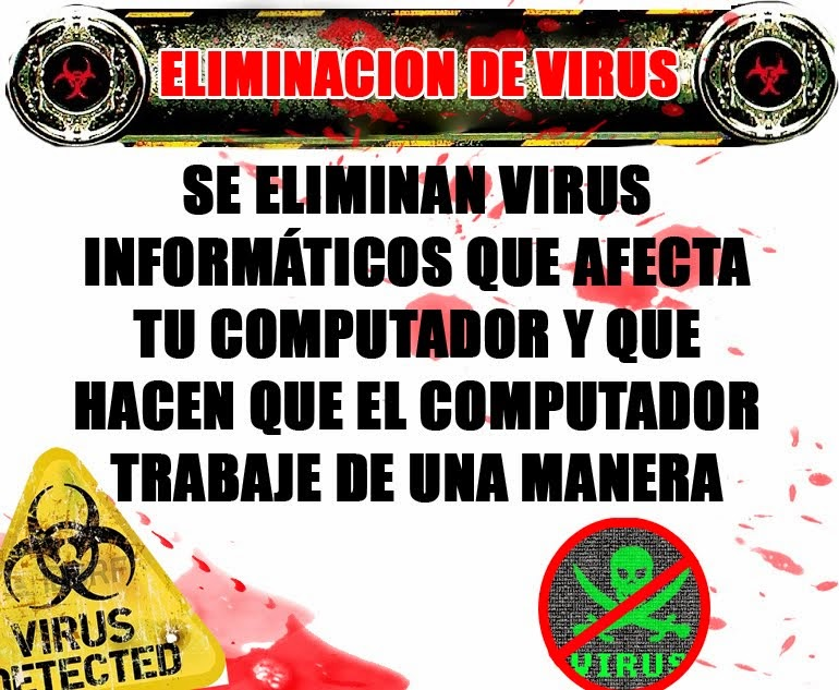 Eliminación de virus GARANTIZADO