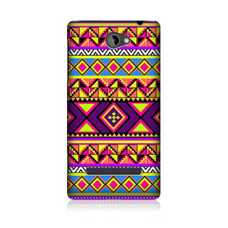 HEAD CASE PREPPY NEON AZTEC DESIGN HARD BACK CASE COVER FOR HTC WINDOWS PHONE 8S
