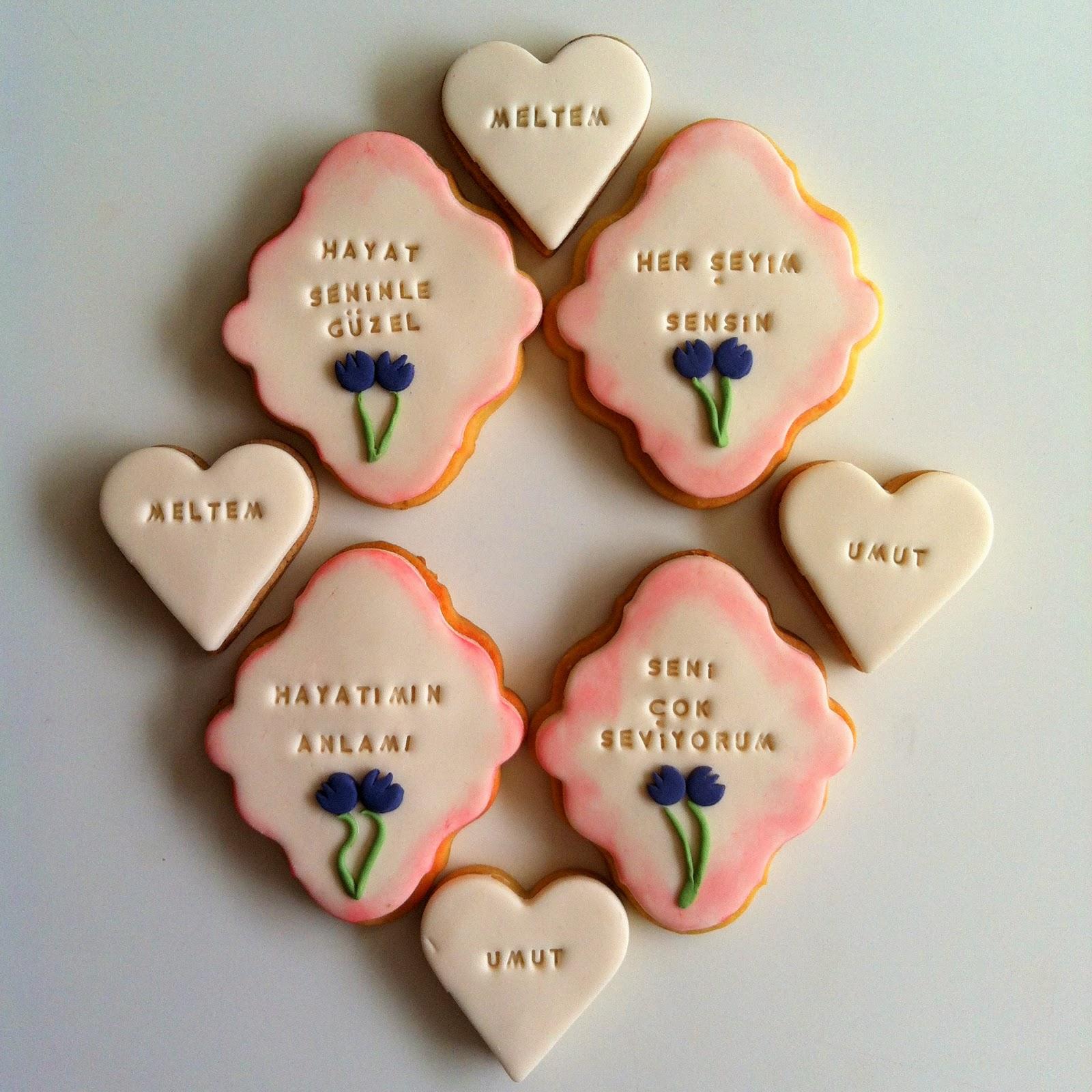 sevgiliye kurabiye, mesajlı kurabiye