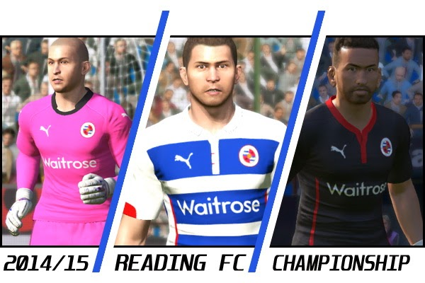PES 2015 Reading FC 2014/15 Kits by *aLe