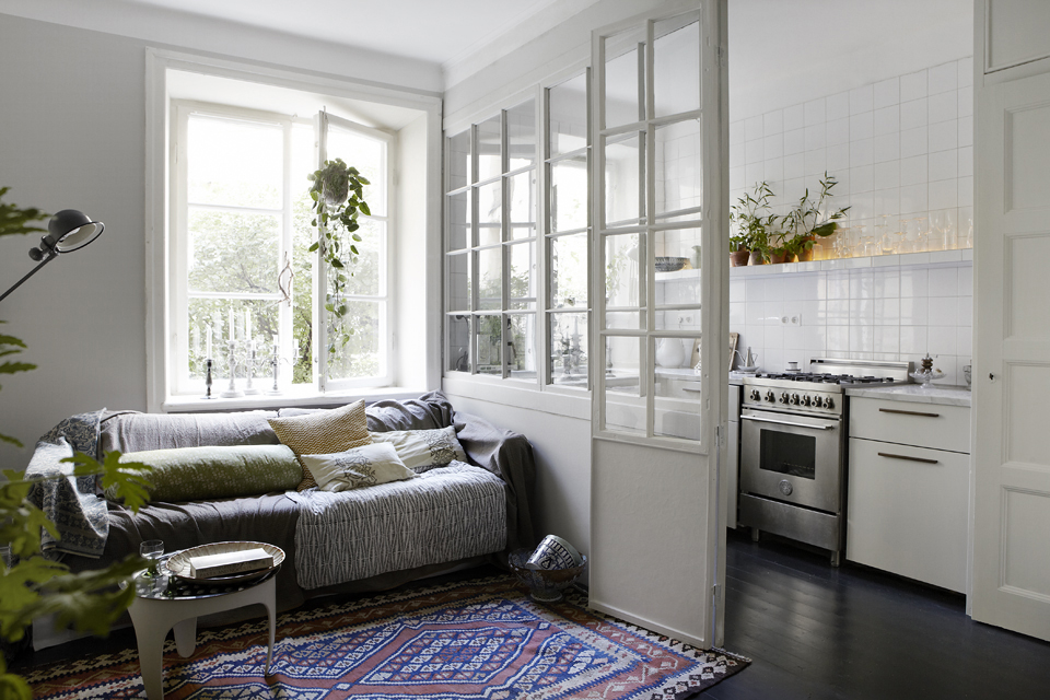 House of silver en smuk lejlighed p 72 m2 i vasastan - Glastrennwand wohnbereich ...