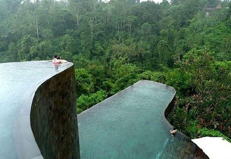 Ubud Hanging Gardens luxury boutique hotel in Ubud, Bali, Indonesia