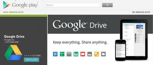 google drive how to reve apps