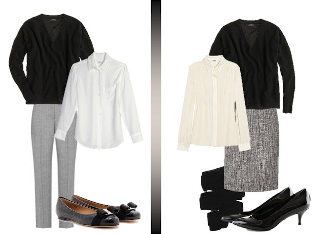 What to wear with black v neck shirt