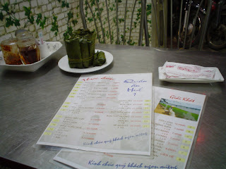Menu vietnamien