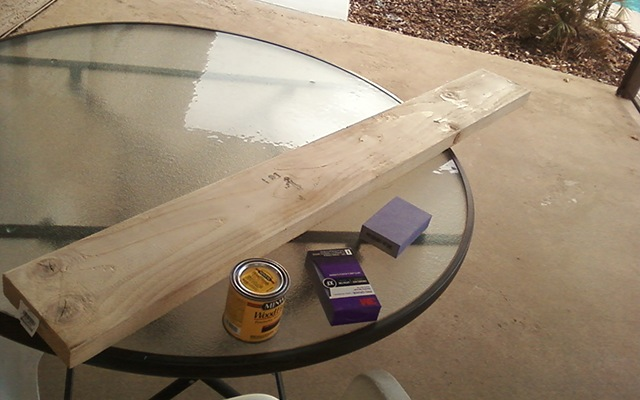 Sanding and Staining Wood
