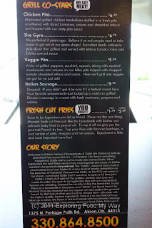 Eddie's Menu Back