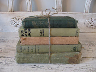 vintage books green