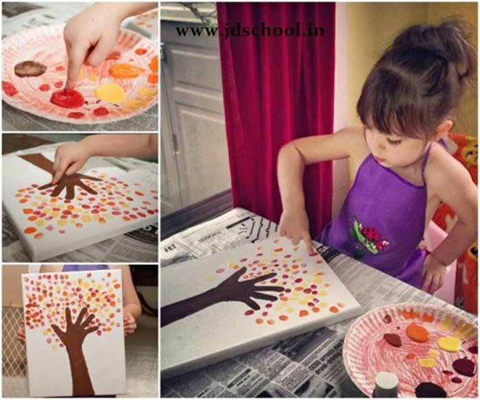 Creative Ideas Fingerprint Tree Painting Crazzy Craft