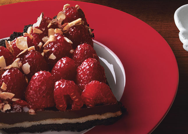 Above: Chocolate Almond and Raspberry Tart - image by Patricia Heal