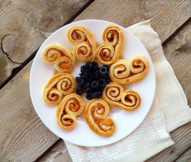 Palmieri aperitiv din foietaj