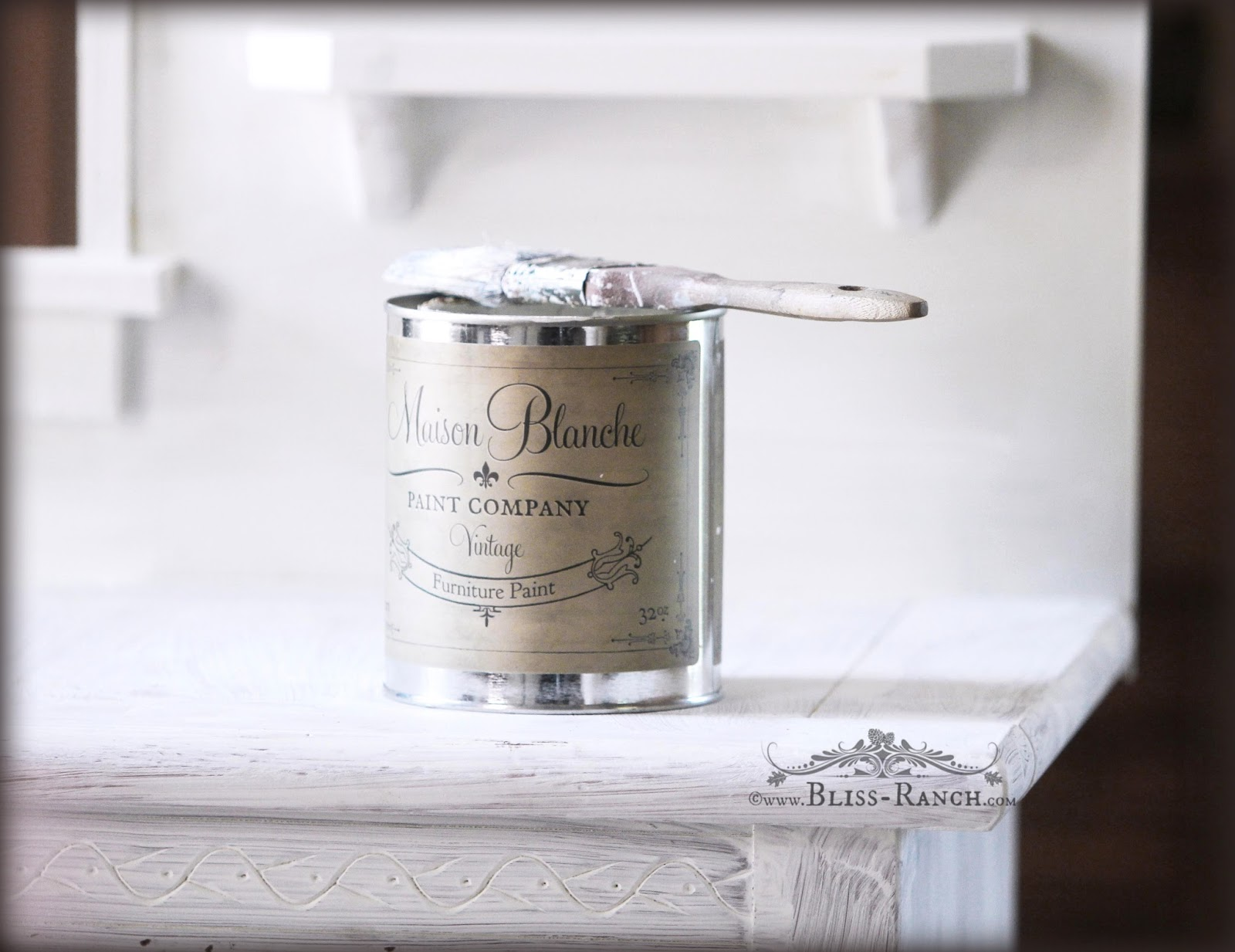 Recycled Nightstand Play Kitchen Bliss-Ranch.com  #maisonblanchepaint  #paintedfurniture #ad