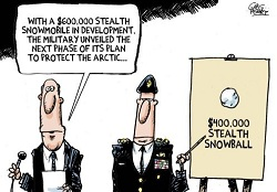 Perry: Stealth Snowmobile.