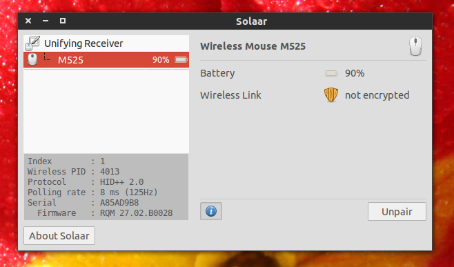 14bd758bbac Pair Logitech Unifying Receiver Devices In Linux With Solaar ~ Web ...