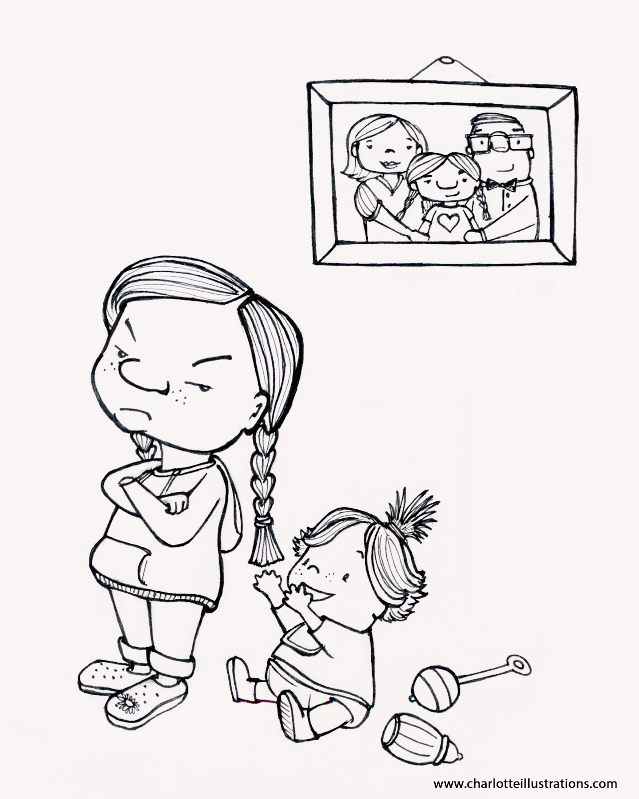 brother and little sister coloring pages Printable Big Sister Tool Kit  Big Sister Little Sister Coloring Pages