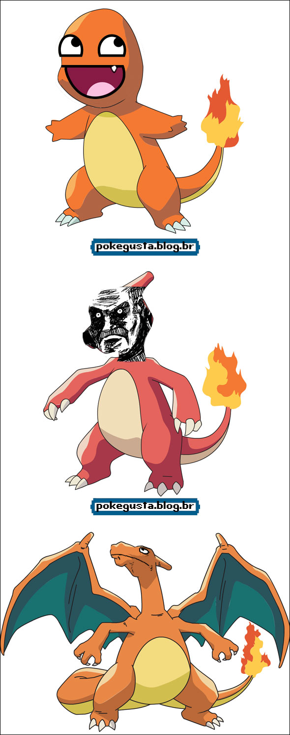 charmanderp charmeleon charizard meme
