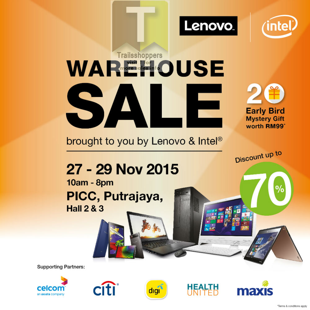 Lenovo Intel Malaysia Putrajaya Warehouse Sale 2015