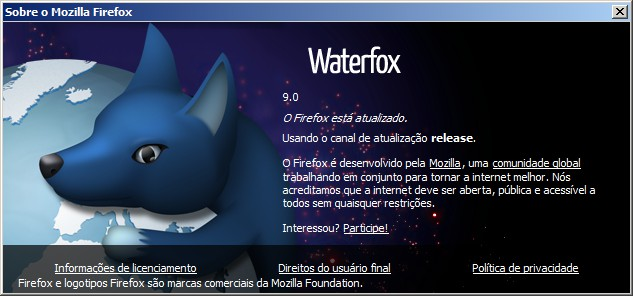 waterfox9 Waterfox é o Firefox 64 bits para Windows 7