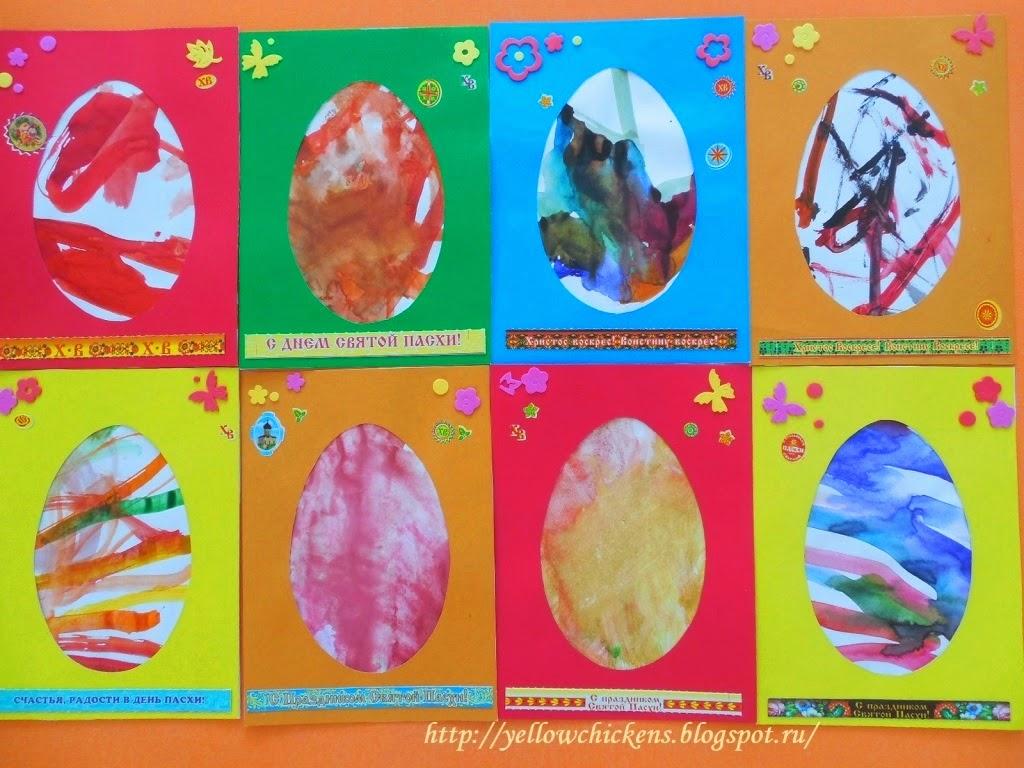 детские рисунки к пасхе: