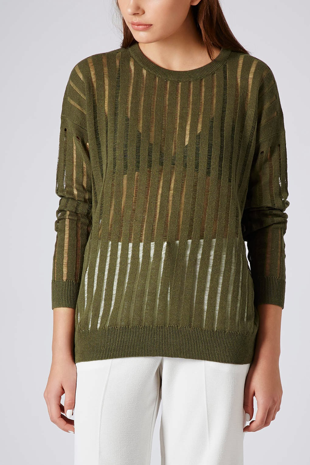 topshop green jumper