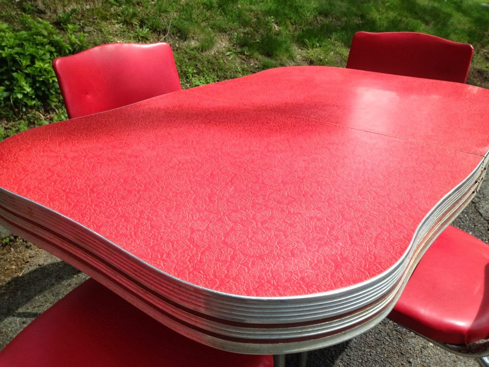 or red personally i favour yellow or green but beau and his two sons who live with us favour tomato red i may be outnumbered here and i think i can - Formica Kitchen Table