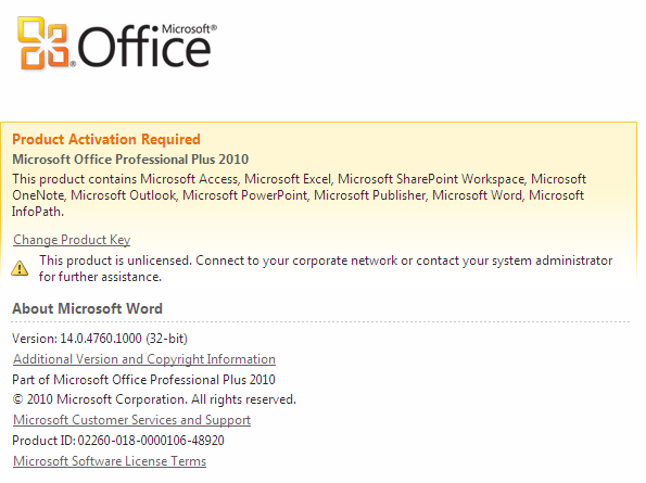 It office 2010 28 2 2013 - How to change ms office 2010 product key ...